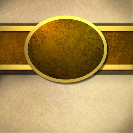 ovals: Brown Background with Copy Space and warm soft tones and textures and gold accents