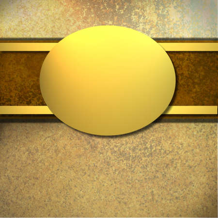 sponged: brown background with gold oval with copy space