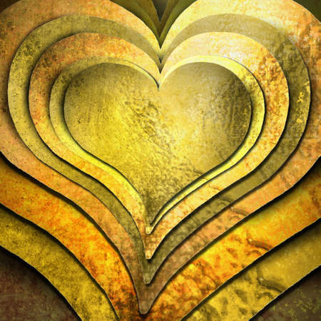 Layers of gold hearts photo