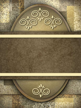 tan: elegant brown background with copy space Stock Photo