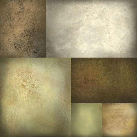tones: brown, grey, and tan background of textured blocks