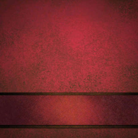 Distressed red background with ribbon photo