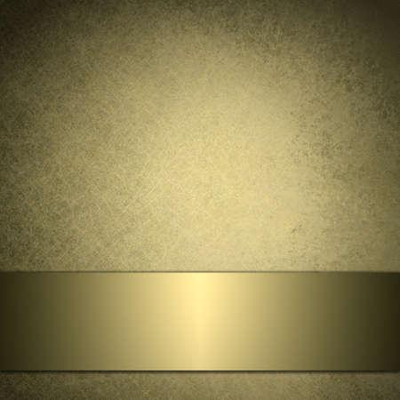 光沢のあるゴールド リボン デザインとビンテージなゴールドの背景