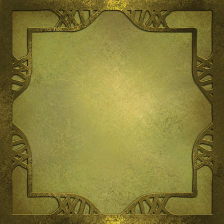 gold and pearl color background with abstract frame border photo