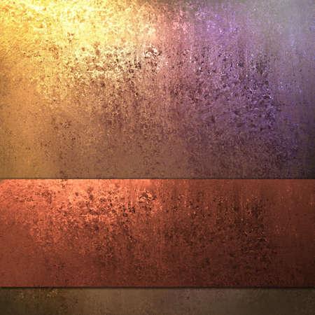 rust red: cobre, oro, y fondo con cinta de color rojo �xido Foto de archivo