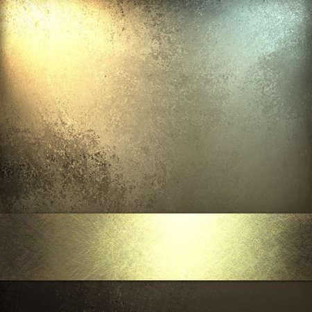 navidad elegante: Fondo de oro p�lido con cinta de oro brillante