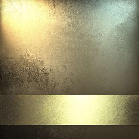 gold yellow: pale gold background with shiny gold ribbon Stock Photo
