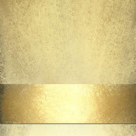 金: 光沢のあるゴールド リボンと淡いゴールドの背景 写真素材