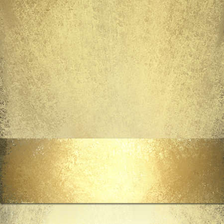 pale gold background with shiny gold ribbon photo
