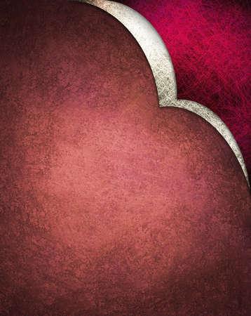 Fondo rojo con diseño de curva blanco en la esquina Foto de archivo - 10566697