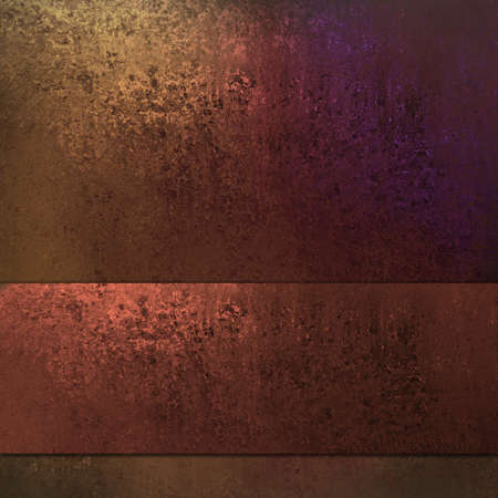 blotchy: Brown copper background with rusty red ribbon