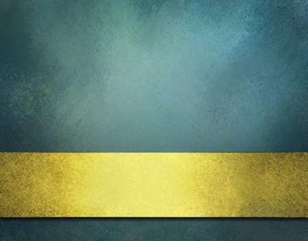blauwe achtergrond met goud lint, vintage textuur, en kopieer de ruimte