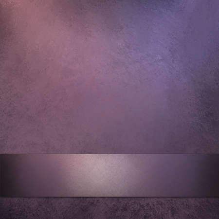 Purple Background with ribbon and copy space photo