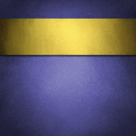 zafiro: fondo azul con cinta de oro Foto de archivo