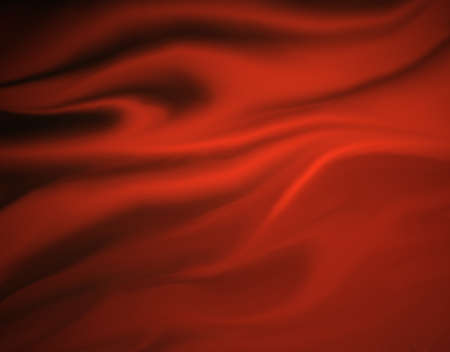 black silk: red flowing cloth with folds illustration with soft blended texture Stock Photo