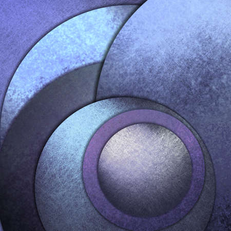 abstract blue circle background paper with grunge texture photo