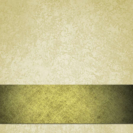 white parchment background with grunge texture and gold stripe photo