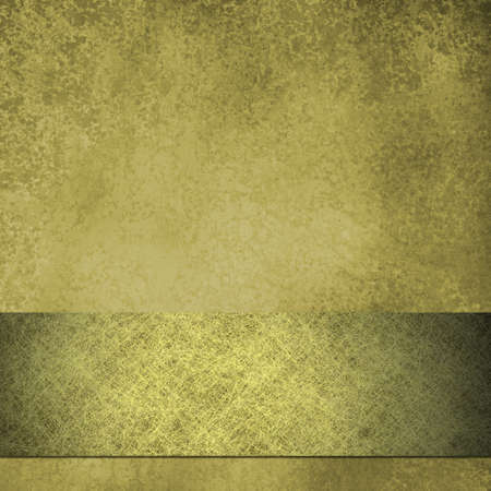 Gold parchment background with gold ribbon and copy space Stock Photo - 10750730