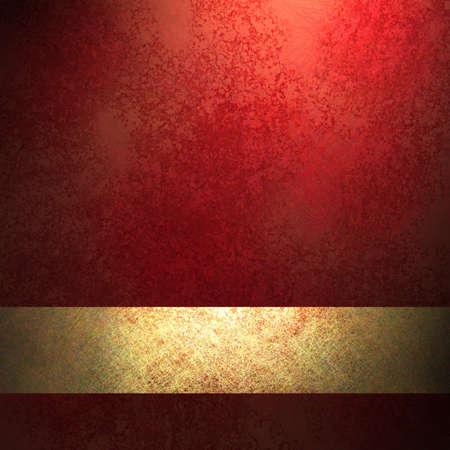fondo elegante: fondo rojo con colores ricos y una cinta de oro
