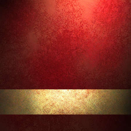 red stripe: red background with rich color and gold ribbon