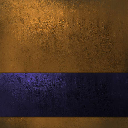 formal blue: gold background with dark blue ribbon Stock Photo
