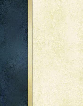 Preparación formal azul y blanco con diseño de diseño de la cinta de oro Foto de archivo - 11230949