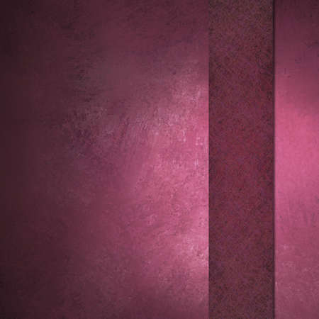 Pink background with ribbon on border with vintage grunge texture and copy space photo
