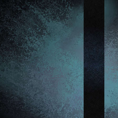 blue background with dark blue ribbon and vintage grunge texture and highlight photo