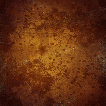web template: warm golden brown background with vintage stain and texture