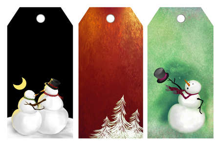wintry: Christmas sales or price tags Stock Photo