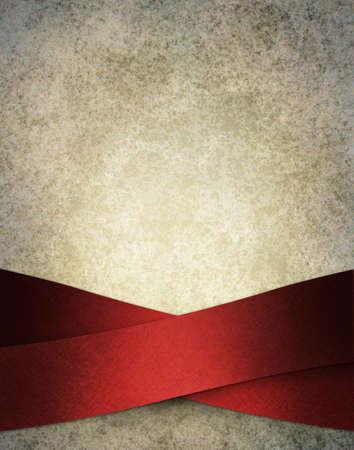 fondo elegante: nieve helada ilustraci�n de fondo blanco con rayas rojas de lujo elegante de la cinta en el dise�o de dise�o art�stico en la frontera del marco, con copia espacio y la textura del grunge de la vendimia con relieve suave