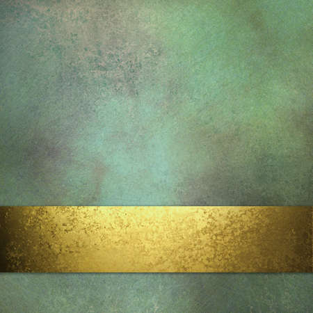 marbled green background with soft faded highlight and vintage grunge texture and mottled brown and gold accent designs in layout with copy space for ad text or brochure photo