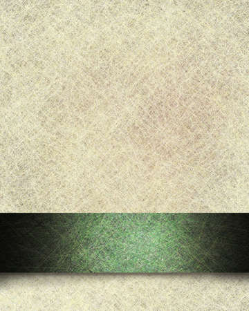 vintage parchment paper background illustration with linen texture and fancy green formal ribbon stripe design with black grunge and soft highlight with copy space for St. Patrick illustration