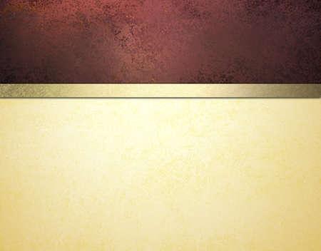 Elegante fondo formal con textura de color rojo y papel blanco crema de pergamino de oro de la cinta Foto de archivo - 12052005