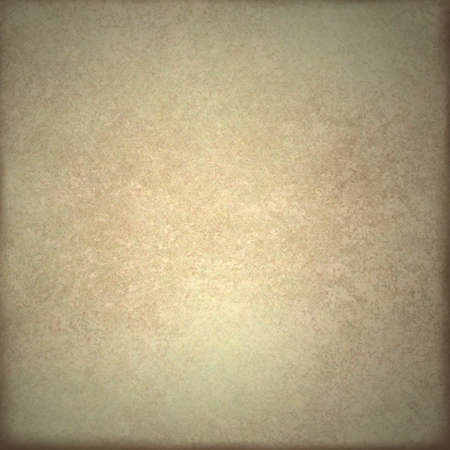 old pale brown or beige background or parchment illustration with white highlight in center and faded dark burnt border on frame with copy space and vintage grunge texture illustration