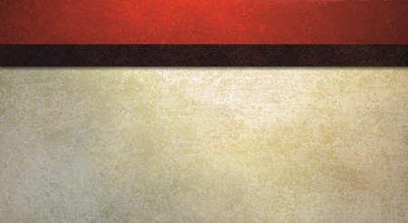 formele achtergrond met vintage rode spons textuur en de oude witte muur illustratie met donker contrast zwart lint streep heeft kopie ruimte voor web-sjabloon of het elegant uitnodiging van de Stockfoto
