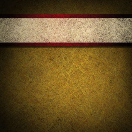 gold parchment background  with red and white ribbon photo