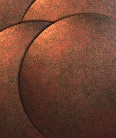 plate: warm copper brown abstract background with round circle shapes in layout design with copy space Stock Photo