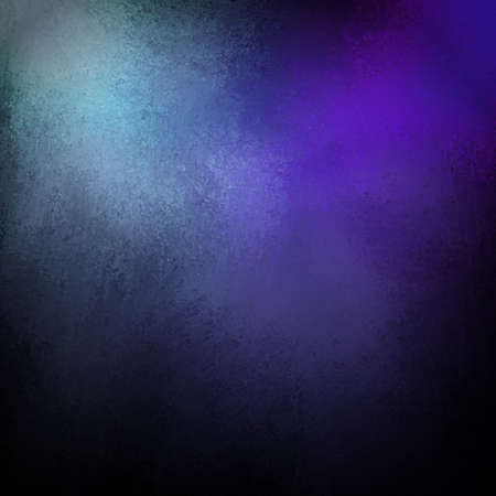 light and dark: blue and purple background with black vintage grunge texture and light highlights
