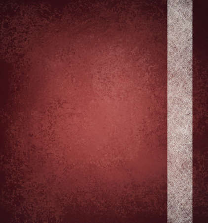 red background with vintage grunge texture and abstract stripe design of white parchment paper with copy space and highlight Stock Photo