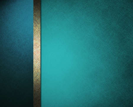beautiful blue background with brown gold stripe and old faded vintage grunge texture for website layout template or app wallpaper or elegant formal stationary for menu  Foto de archivo