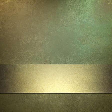 fondo verde oscuro: fondo de color verde oscuro con textura grunge de edad y m�s destacado de oro suave, raya brillante cinta de oro acento, dise�o elegante dise�o, y espacio de la copia