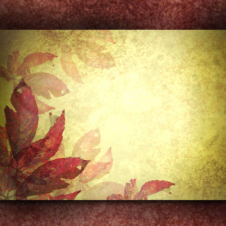 burnt edges: golden parchment with burgundy accent background with copy space