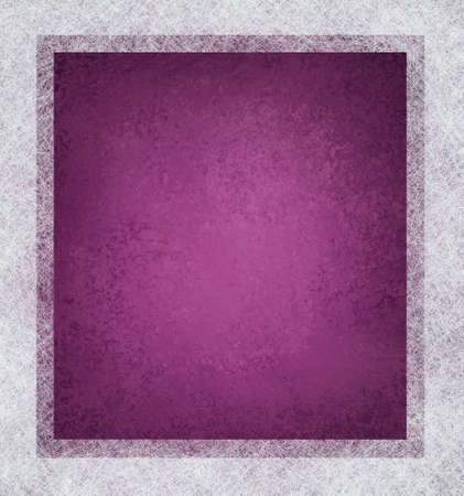 purple pink  background with white parchment frame on border with vintage grunge texture and faded soft lighting with copyspace  Stock Photo - 12624017