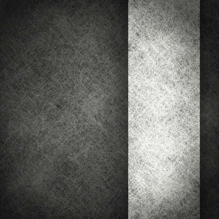 black background with grunge texture and vintage parchment paper illustration on white ribbon; monochrome background Stock Illustration - 12624053