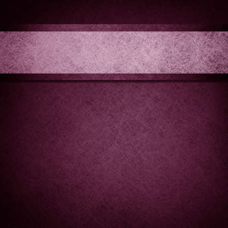formal: purple background layout design illustration with parchment ribbon stripe and dark edges on border of paper Stock Photo
