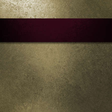 luxury template: dark red ribbon layout design on pale pastel beige background with vintage grunge texture and blank copyspace