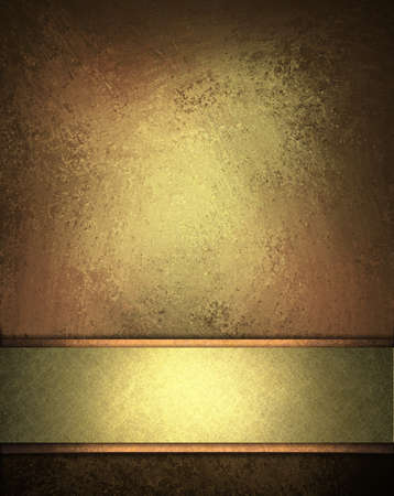 elegant brown peach distressed background with texture and highlight rich gold stripe design layout