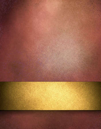 elegant red distressed background with texture and highlight rich gold stripe design layout  photo