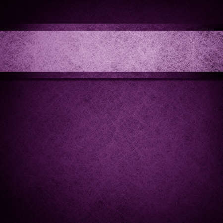 elegant: purple background layout design illustration with parchment ribbon stripe and dark edges on border of paper Stock Photo